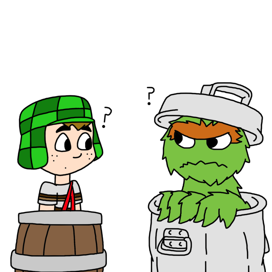894x894 El Chavo Meets Oscar The Grouch By Marcospower1996
