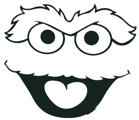 450x389 Oscar The Grouch Clipart Black And White Free Collection