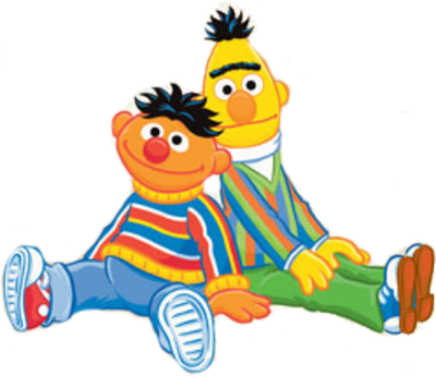 400x345 Oscar The Grouch Clipart Ernie And Bert