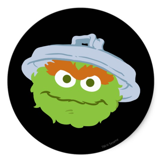 540x540 Oscar The Grouch Face Classic Round Sticker