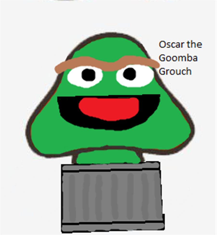 900x974 Oscar The Grouch Goomba By Allthestuffilike94