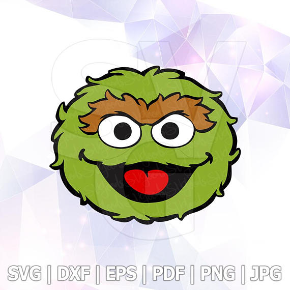 570x570 Oscar The Grouch Sesame Street Vector Layered Svg Cut File