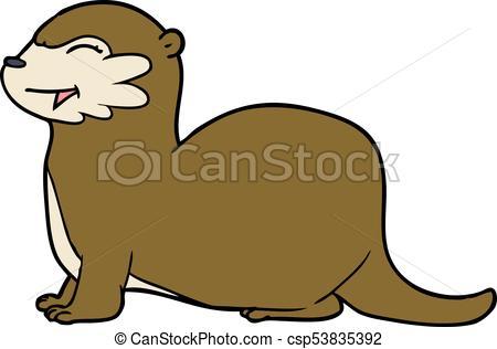 450x316 Laughing Otter Cartoon Eps Vectors