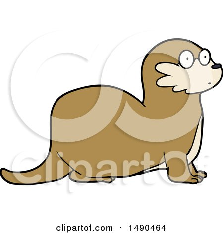 450x470 Royalty Free Vector Clip Art Illustration Of A Photographer Otter