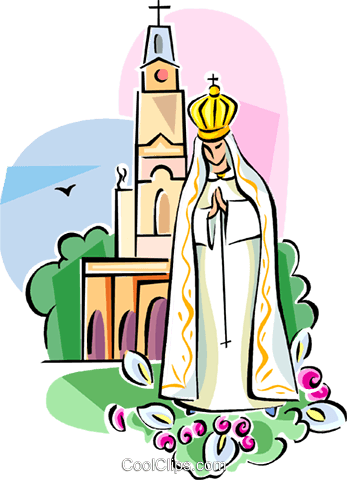 347x480 Religious Icon Our Lady Of Fatima Royalty Free Vector Clip Art
