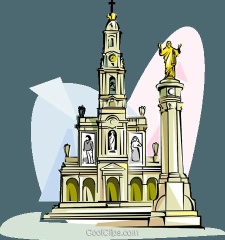 450x480 Sanctuary Of Fatima Royalty Free Vector Clip Art Illustration