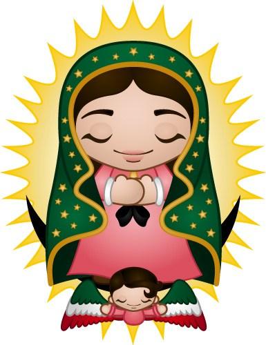 385x500 Virgin Guadalupe Clip Art