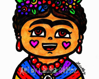 340x270 Clip Art Frida Kahlo Mexican Art Digital Download Frida