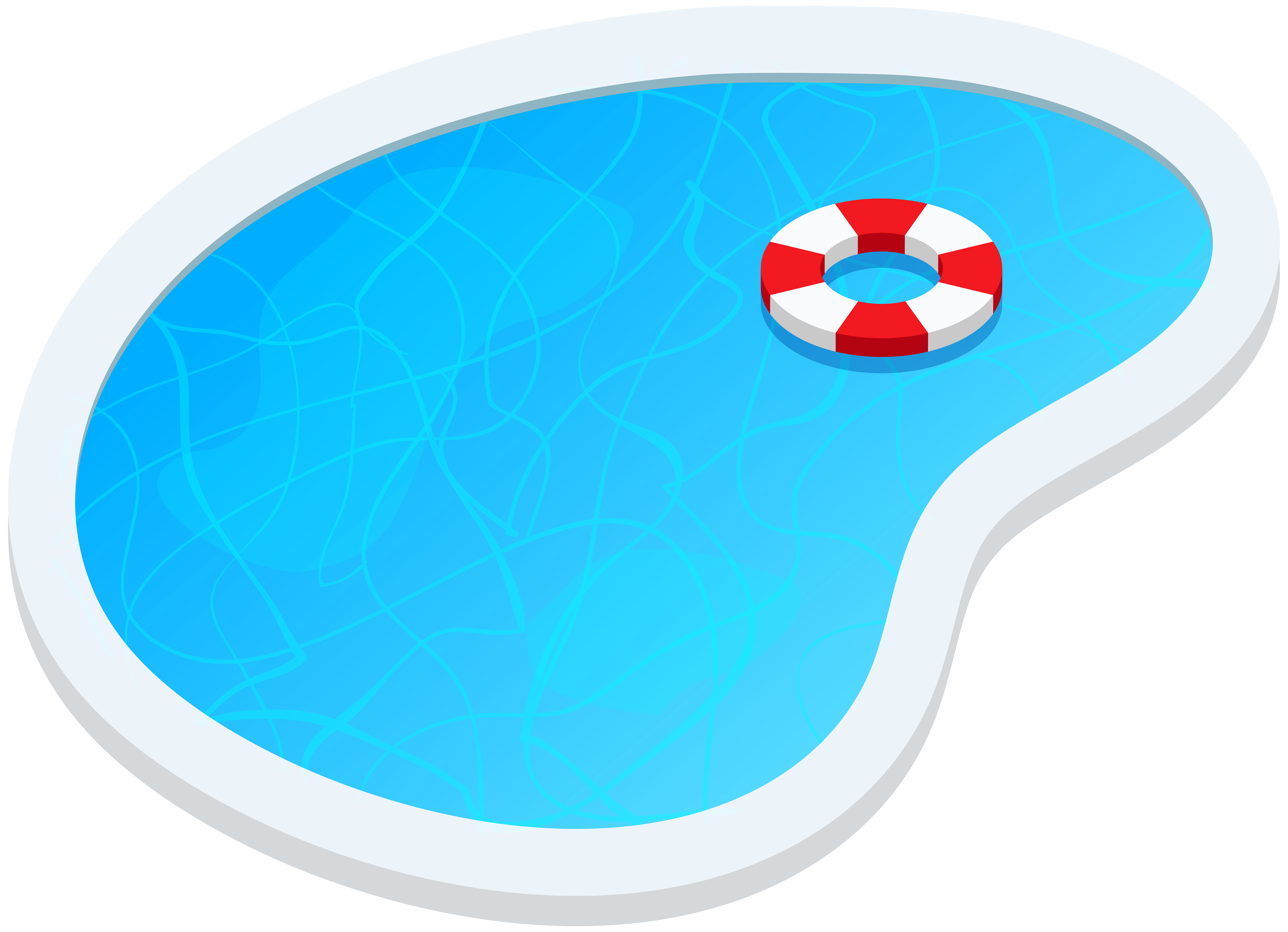 8000x5792 Swimming Pool Oval Png Clip Art