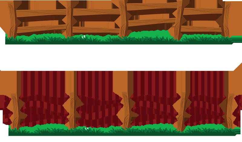800x472 Clip Art Picture Of Gate In A Wooden Fence. Description