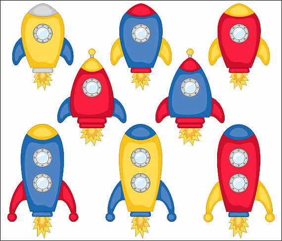 570x487 Cute Spaceships Clip Art Rocket Clipart Vehicle Outer Space