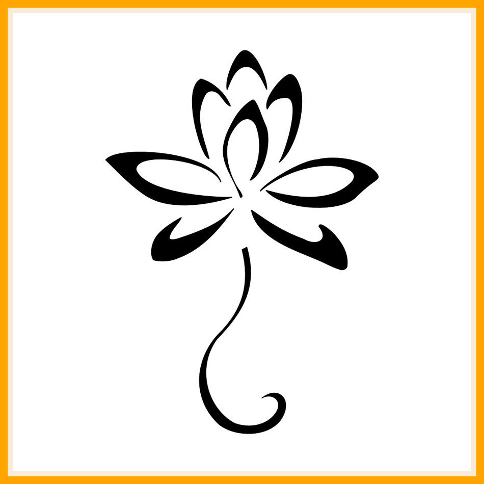 950x950 Amazing Flower Outline Clipart Clip Art Library Of Styles