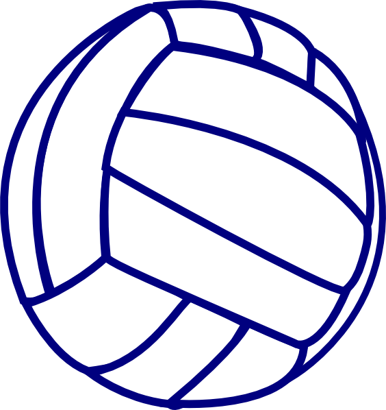 564x598 Attractive Volleyball Outline Blue Clip Art At Clker Com Vector