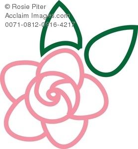 278x300 Rose Clip Art Outline Clipart Panda