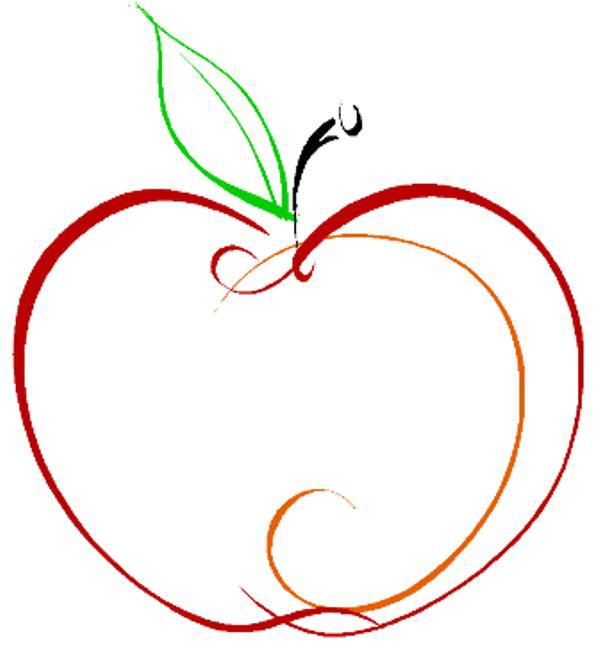 600x654 Apple Clip Art Outline Apple Outline Clip Art Clipartix Science