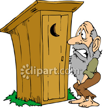 333x350 A Hillbilly Waiting Outside An Outhouse