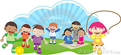 400x184 Kids Playing Outside Clipart Hd Letters