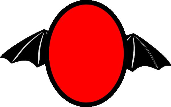 600x376 Bat Wing Oval Clip Art Clipart Panda