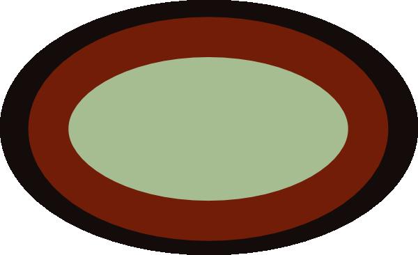 600x366 Brown Oval Frame2 Png, Svg Clip Art For Web
