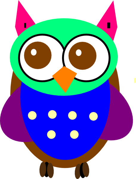 456x599 Gallery Colorful Owl Clip Art,
