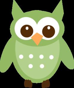 249x298 Olive Green Owl Clip Art