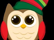 220x165 Clipart Christmas Owls Owls Christmas Clip Art Chrismukkah