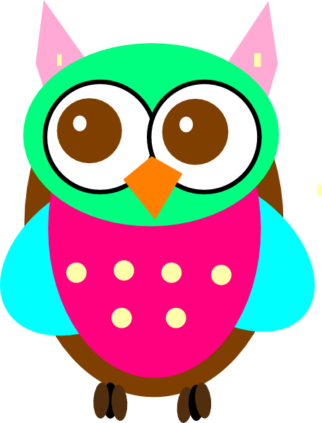 456x599 Colouful Clipart Owl