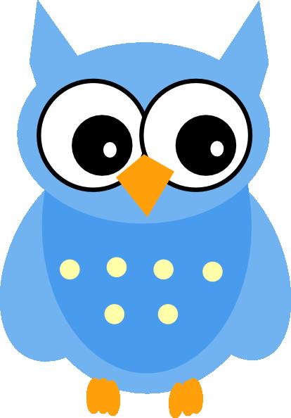 414x594 Cute Cartoon Owls Blue Owl Clip Art