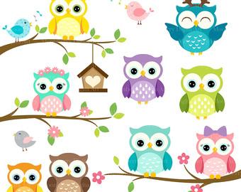 340x270 Owls Clipart