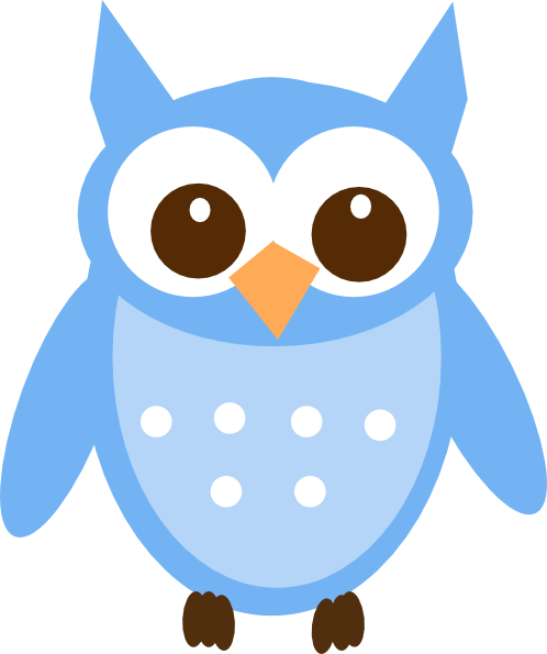 498x595 Blue Owl Clip Art Ba Blue Owl Clip Art