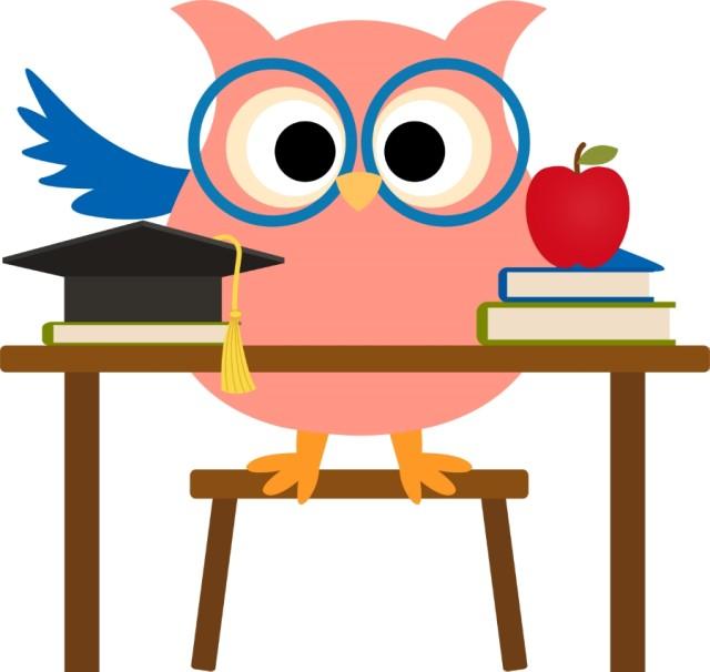 640x606 Owl Clipart For Teachers Owl Clipart Teacher 1