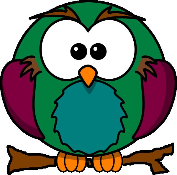600x594 Cute Owl On Branch 2 Clip Art