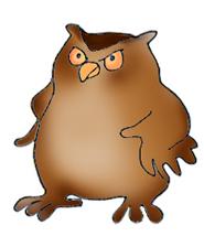 185x224 Owl Clip Art