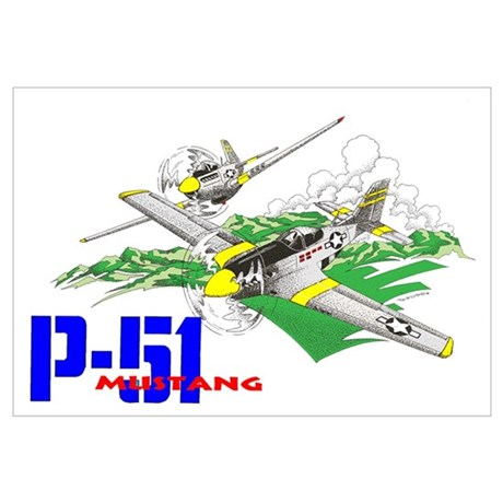 460x460 P 51 Mustang Wall Art