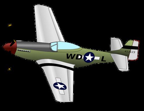 500x386 P51 Mustang Fighter Plane Vector Image Public Domain Vectors