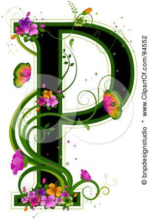 304x450 Elegant Letter P Clip Art Clipart Illustration Of An Elegant