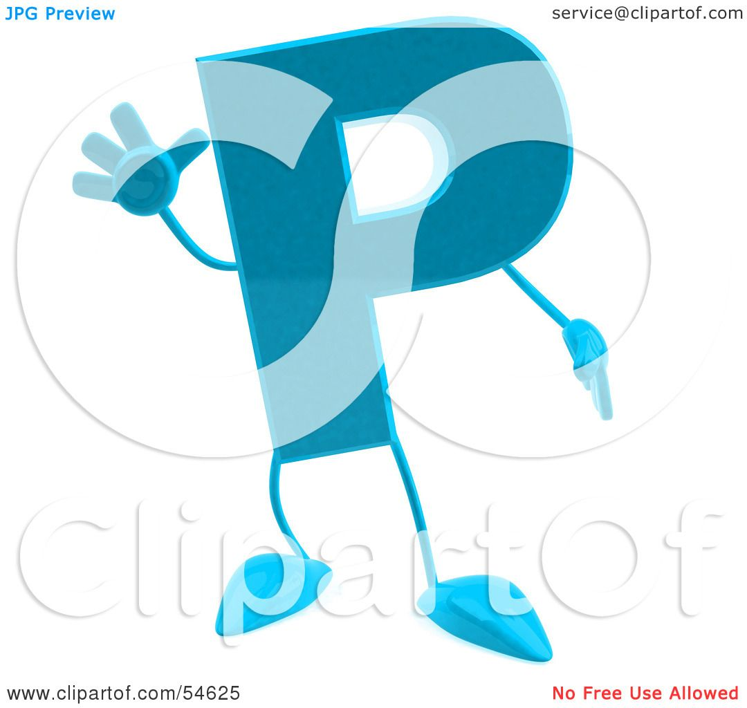 1080x1024 Royalty Free (Rf) Clipart Illustration Of A 3d Blue Letter P
