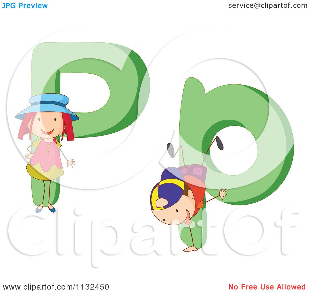 1080x1024 Cartoon Of Alphabet Kids And Letters P