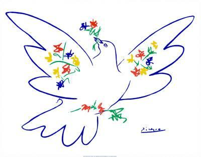 400x314 Dove Of Peace Art Print By Pablo Picasso