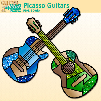 350x350 Pablo Picasso Guitar Clip Art Blue Period Instruments For Cubism