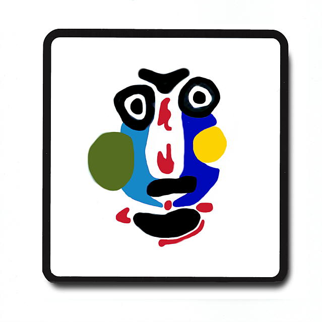 639x639 Picasso Crayon Collection Drink Coasters.