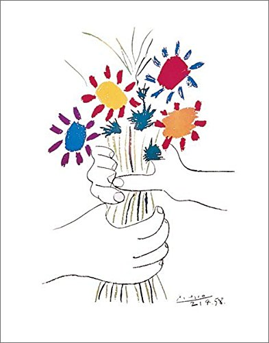 393x500 Pablo Picasso Petite Fleurs (Small Flowers) Decorative