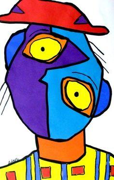236x372 Signed Pablo Picasso Picasso Picasso, Cubism