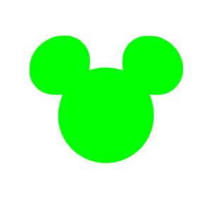 300x300 Green Mickey Ears Clipart