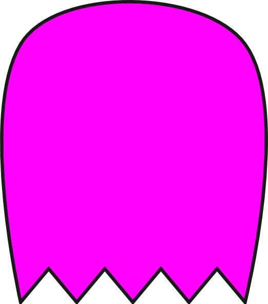 522x594 Pink Pacman Ghost Clip Art