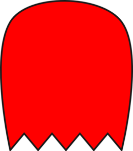261x297 Red Pacman Ghost Clip Art