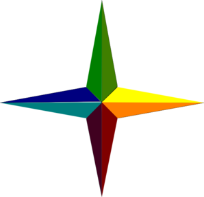 298x288 Pagan Elemental Compass Clip Art