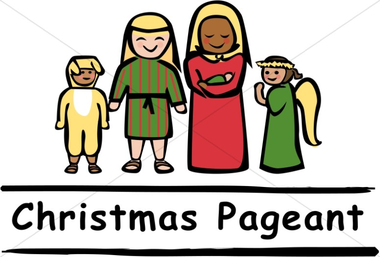776x525 Christmas Pageant People Nativity Word Art