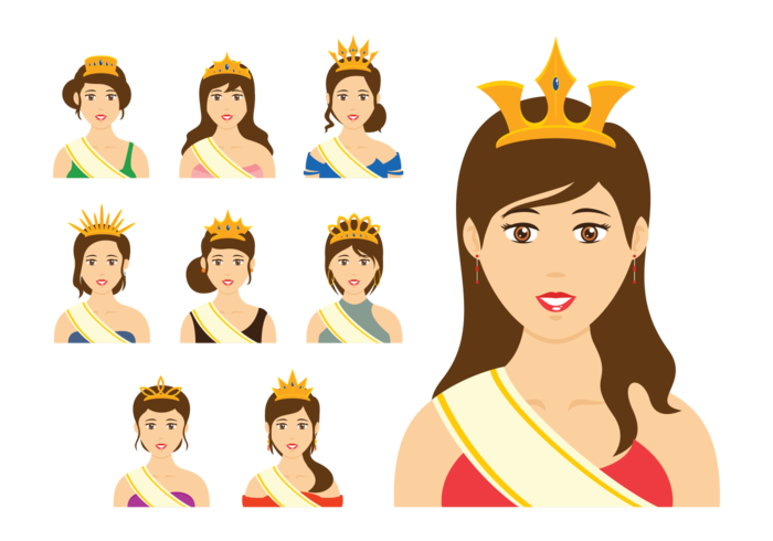 700x490 Pageant Queen Vector
