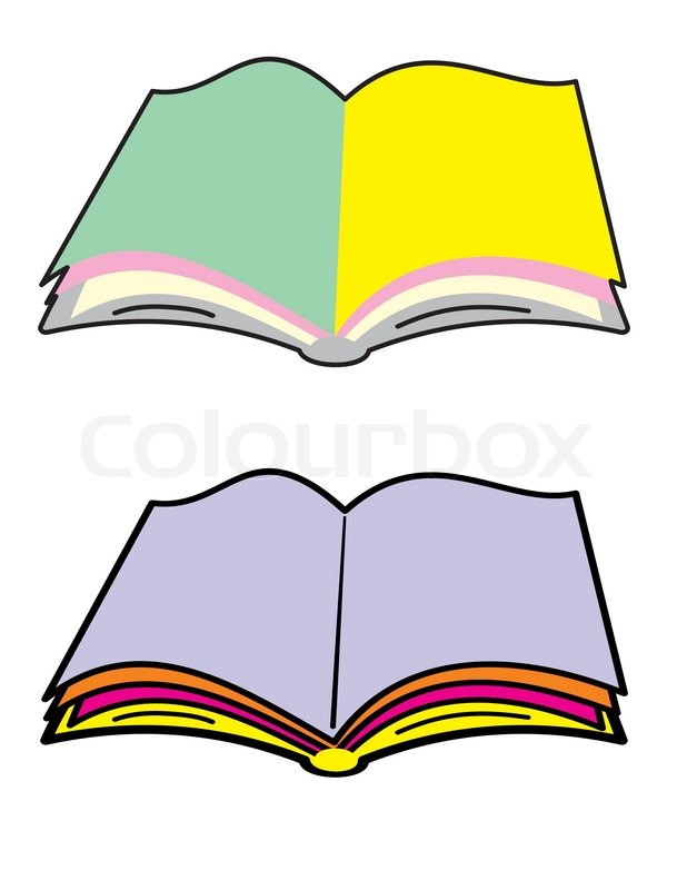 618x800 Open Book With Blank Color Pages